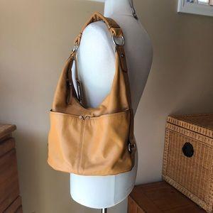 Tignanello Butterscotch Leather Shoulder Bag Purse